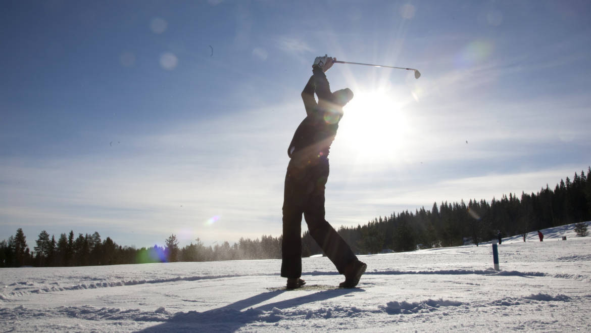 winter golf on snow and ice santa claus golf in english