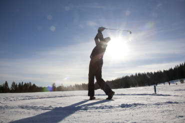 Winter golf on snow and ice